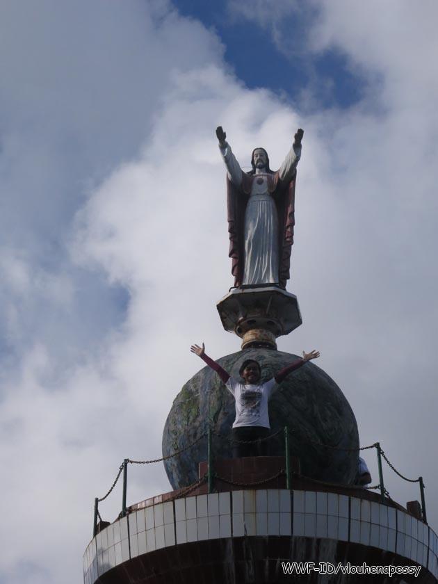 Patung Yesus di Bukit Masbait